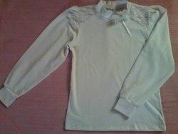 Блуза школьная, фуликра белая (0159)