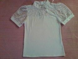 Блуза школьная, фуликра белая (0184)