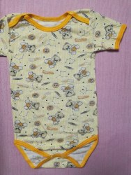 Боди-футболка, кнопки-плечи, кулир, размер 30 (0781-02)