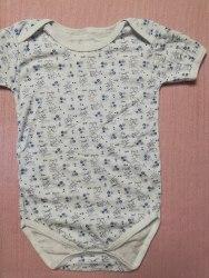 Боди-футболка, кнопки-плечи, кулир, размер 30 (0781-03)
