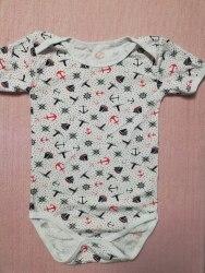 Боди-футболка, кнопки-плечи, кулир, размер 28, 30 (0781-04)