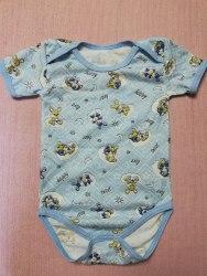 Боди-футболка, кнопки-плечи, кулир, размер 26, 30 (0781-05)