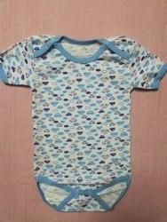 Боди-футболка, кнопки-плечи, кулир, размер 26 (0781-07)