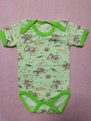 Боди-футболка, кнопки-плечи, кулир, размер 22, 30 (0781-10)