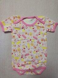 Боди-футболка, кнопки-плечи, кулир, размер 24 (0781-12)