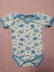 Боди-футболка, кнопки-плечи, кулир, размер 24 (0781-16)