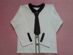 Джемпер школьный для мальчика, вышивка, интерлок отбеленный (0186)
