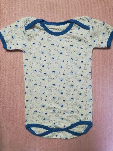 Боди-футболка, кнопки на плечах, жатка набивная, размер 30 (0504-01)