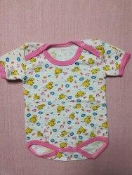 Боди-футболка, кнопки на плечах, жатка набивная, размер 24 (0504-03)