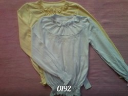 Блуза для девочки, вышивка, интерлок (0192)