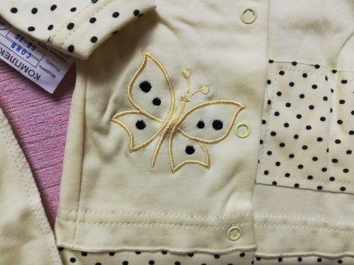 Комплект ясельный для девочки: кофта на кнопках, ползунки евро, интерлок, рост 56, 62 (0740-02)