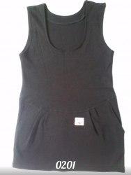 Сарафан школьный, с карманами, интерлок черный (0201)