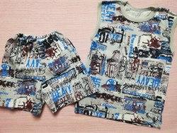 Комплект безрукавка + шорты, кулир тонкий, размер 64 (0130-01)