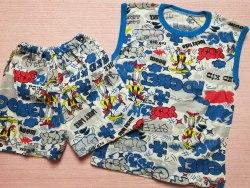 Комплект безрукавка + шорты, кулир тонкий, размер 68 (0130-03)