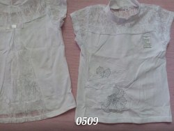 Блуза школьная, интерлок, вышивка, гипюр (0509)