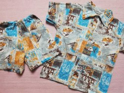 Комплект рубашка+ шорты, кулир тонкий, размер 60 (0393-04)