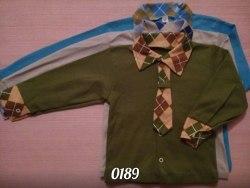 Рубашка для мальчиков, интерлок (0189)
