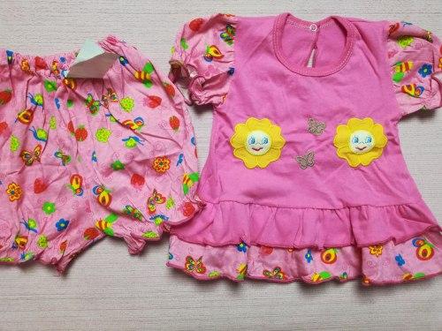 Комплекты ясельные для девочек, кулир, вышивка, размер 48 (0858-01)