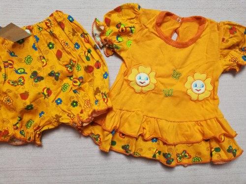 Комплекты ясельные для девочек, кулир, вышивка, размер 48, 52 (0858-03)