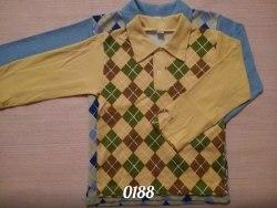 Рубашка для мальчиков, интерлок (0188)