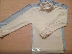 Водолазка для девочек, воротник и рукава-буфы, интерлок (0190)