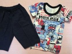 Комплект футболка + бриджи, кулир, размер 26 (0784-02)