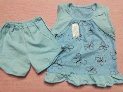 Пижама летняя для девочек, кулир, размер 52, 56, 60 (0137-03)