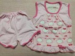 Пижама летняя для девочек, кулир, размер 60 (0137-04)