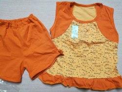 Пижама летняя для девочек, кулир, размер 60 (0137-06)