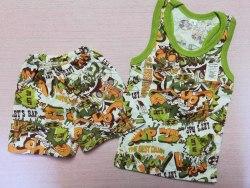 Комплект борцовка + шорты, кулир, размер 60, 68 (0096-01)