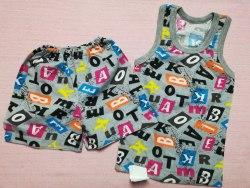 Комплект борцовка + шорты, кулир, размер 56 (0096-06)