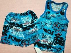 Комплект борцовка + шорты, кулир, размер 60 (0096-10)