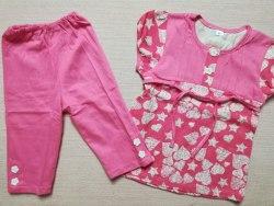Комплект для девочек, кулир набивной, размер 60 (0807-02)