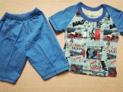 Комплект футболка + шорты, кулир комбинированный, размер 24 (0097-02)