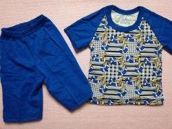 Комплект футболка + шорты, кулир комбинированный, размер 24 (0097-03)