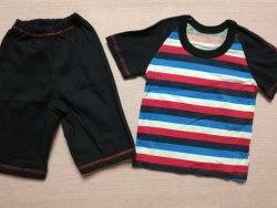 Комплект футболка + шорты, кулир комбинированный, размер 24 (0097-01)