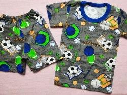 Комплект футболка + шорты, кулир набивной, размер 30 (0434-01)