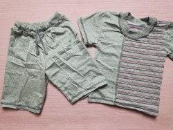 Комплект, футболка + бриджы, кулир меланж, размер 26 (0986-02)