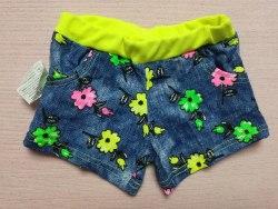 Шорты для девочек с карманами, кулир, размер 28 (0861-06)