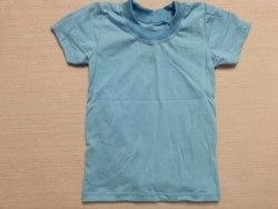 Футболка детская, кнопки-плечо, кулир, размер 22, 24, 32 (0786-04)
