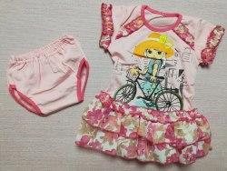 Комплект для девочек, платье+трусики, кулир, размер 48 (0330-02)