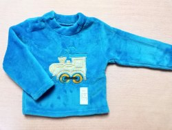 Джемпер теплый, кнопки на плече, вышивка, велсофт, размер 52, 56 (0717-02)