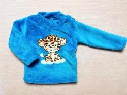 Джемпер теплый, кнопки на плече, вышивка, велсофт, размер 52, 64 (0717-08)