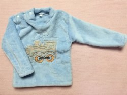 Джемпер теплый, кнопки на плече, вышивка, велсофт, размер 52, 56, 60, 64 (0717-09)