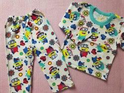 Пижама детская теплая (начес), размер 52 (0085-01)