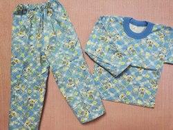 Пижама детская теплая (начес), размер 52 (0085-02)