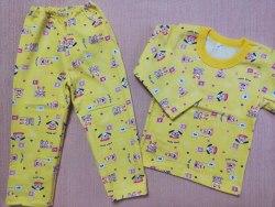 Пижама детская теплая (начес), размер 52 (0085-04)