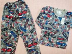 Пижама детская теплая (начес), размер 56 (0085-08)