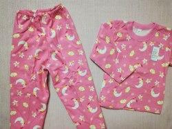 Пижама детская теплая (начес), размер 56, 60 (0085-10)
