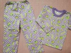 Пижама детская теплая (начес), размер 56, 60, 68 (0085-12)